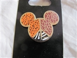 Disney Trading Pin 88642: Mickey Mouse Icon - Animal Print Peace Sign