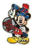 Disney Trading Pin 12 Months of Magic - Happy New Year 2002 (Mickey)