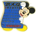 Disney Trading Pin 12 Months of Magic Calendar Series (January / Mickey)