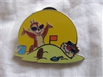 Disney Trading Pin 89362: Cool Characters - 4 Pin Starter Set - Chip 'n Dale Playing in the Sand