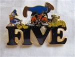 Disney Trading Pin 89580: 'Fab Five' Letter - 2 Pin Set - Five Donald, Goofy, and Pluto Only