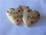 Disney Trading Pin 19091 DLR - Two Hearts (Snow White & Prince) Jeweled/Hinged