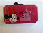 Disney Trading Pin 92328 WDW - PWP Collection - Admission Ticket - Minnie Mouse