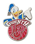 Disney Trading Pins 93924: 2013 Mini-Pin Set - Donald Duck ONLY