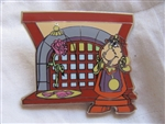 Disney Trading Pin 94076: WDW - New Fantasyland - Beauty and the Beast Mystery Collection - Cogsworth at Bonjour! Village Gifts ONLY