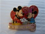 Disney Trading Pin  Valentines Day 2002 (Mickey & Minnie)