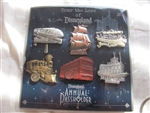 Disney Trading Pin 94357: DLR - Annual Passholder - Tour the Lore - Attraction Vehicles Set