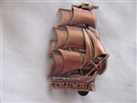 Disney Trading Pin 94359: DLR - Annual Passholder - Tour the Lore - Attraction Vehicles Set - Sailing Ship Columbia ONLY