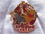 Disney Trading Pin 94485: Spring Has Sprung 2013 - Pooh, Tigger, and Eeyore