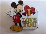 "Disney Trading Pin 96743: Mickey Mouse - Sign language ""I Love You"""