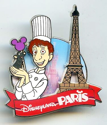 Disney Trading Pin 97158 Dlp Ratatouille Remy And Linguini With Eiffel Tower