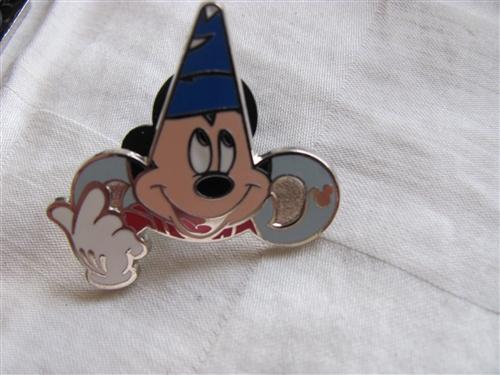 WDW 2013 Hidden Mickey Park Icons Hollywood Studios Sorcerer Disney Pin 97206