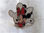 Disney Trading Pin 97262: DLR - 2013 Hidden Mickey Series - White Glove Silhouette - Minnie Mouse
