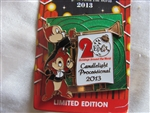 Disney Trading Pin 98631: WDW - 2013 Holidays Around the World Chip and Dale Candlelight Processional