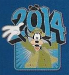 Disney Trading Pin 99747: 2014 DLR / WDW Mystery Collection - Goofy
