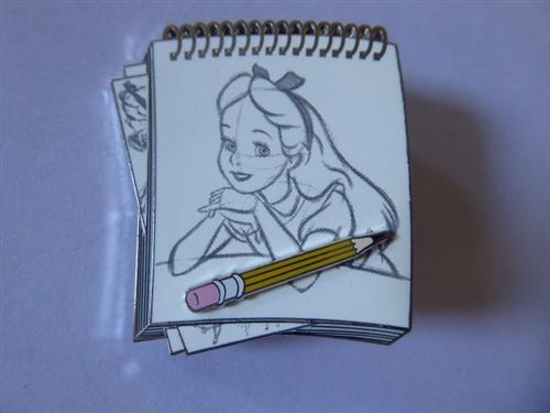 Disney Trading Pin Dssh Alice In Wonderland Drawing Sketch Pad