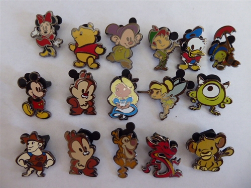 DISNEY PINS STYLIZED Cutie Character Mystery Series