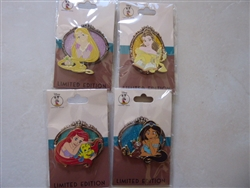 Disney Trading Pin Disney Employee Center DEC Princess & Pals Set