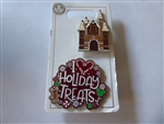 disney trading pin Gingerbread House Mickey Snacks Holiday Treats