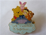 Disney Trading Pin Shanghai Disney Pooh Let's Weather it Together