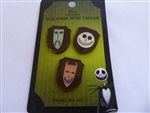 Disney Trading Pin LOUNGEFLY THE NIGHTMARE BEFORE CHRISTMAS LOCK SHOCK & BARREL ENAMEL PIN SET