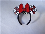 Disney Trading Pins Loungefly Minnie Mouse Ear Headband - Red and White Flowers
