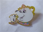 Disney Trading Pins Loungefly Disney Parents with Children - Mrs Potts and Chip