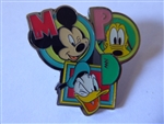 "Disney Trading Pin  Character Letters ""M"" MICKEY MOUSE ""P"" PLUTO ""D"" DONALD DUCK"