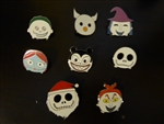 Disney Trading Pins Tsum Tsum Nightmare Before Christmas Mystery Collection Complete Set of 8