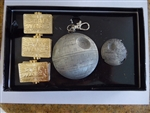 Disney Trading Pin DISNEY STAR WARS WEEKENDS 2015 3 Tiered Pin Set w Second Death Star Completer