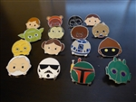 Disney Trading Pins Star Wars - Tsum Tsum Mystery Pin Pack - Series 1 complete set of 16 pins
