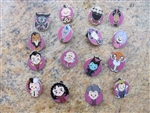 Disney Trading Pins World of Evil Mystery Collection complete set of 16 pins