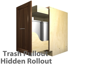 1 pullout trash cabinet (HIDDEN ROLLOUT NEAR TOP)