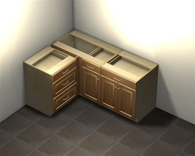 Superieur 1 Door 1 Drawer Blind Corner Base Cabinet ...