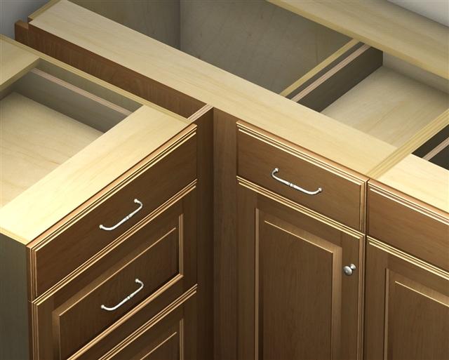 door 1 drawer blind corner base cabinet left