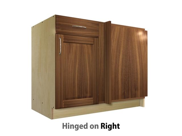 door 1 drawer blind corner base cabinet right