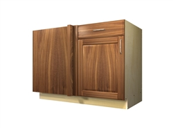 1 door 1 drawer blind corner base cabinet (LEFT side hinged with integrated filler)
