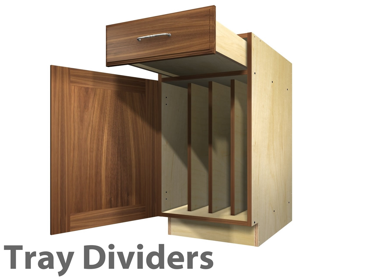 1 door and 1 drawer TRAY DIVIDERS