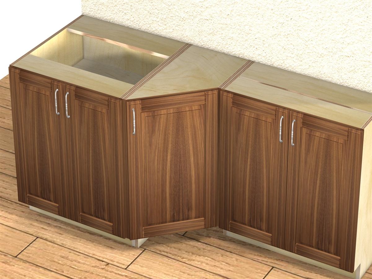 door 45 degree transition cabinet