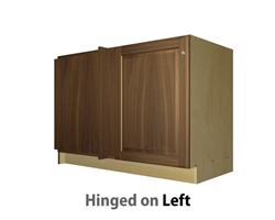 1 door blind corner base cabinet hinged left