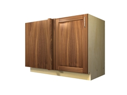 1 door blind corner base cabinet (LEFT side hinged with integrated filler)