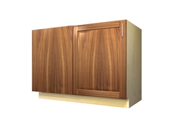 1 door base cabinet with blank panel return (LEFT side hinged)