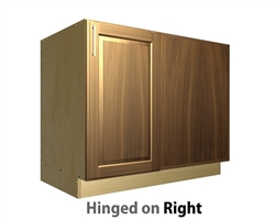 1 door base cabinet with blank panel return