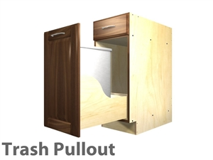 1 pullout trash and 1 drawer cabinet SINGLE CAN