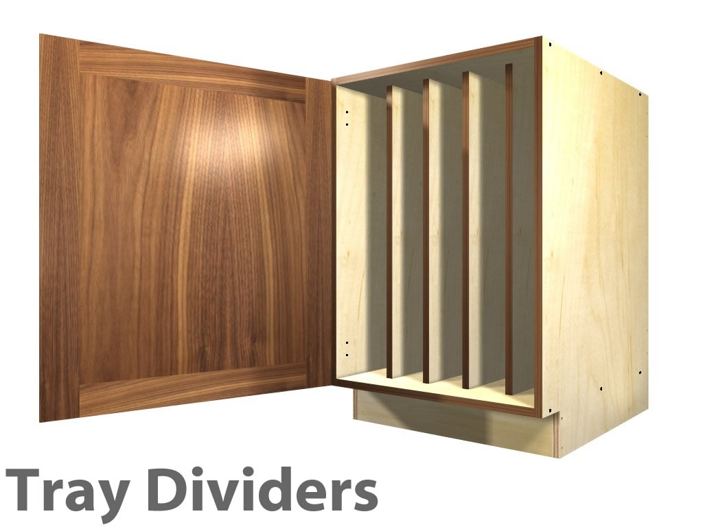 1 door base cabinet with TRAY DIVIDERS  sc 1 st  Barker Cabinets & door base cabinet with TRAY DIVIDERS
