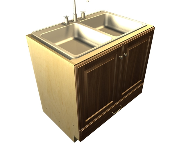 2 door and 1 bottom drawer SINK base cabinet (*sink not included)