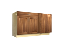 2 door 1 drawer blind corner base cabinet (RIGHT side hinged with integrated filler)