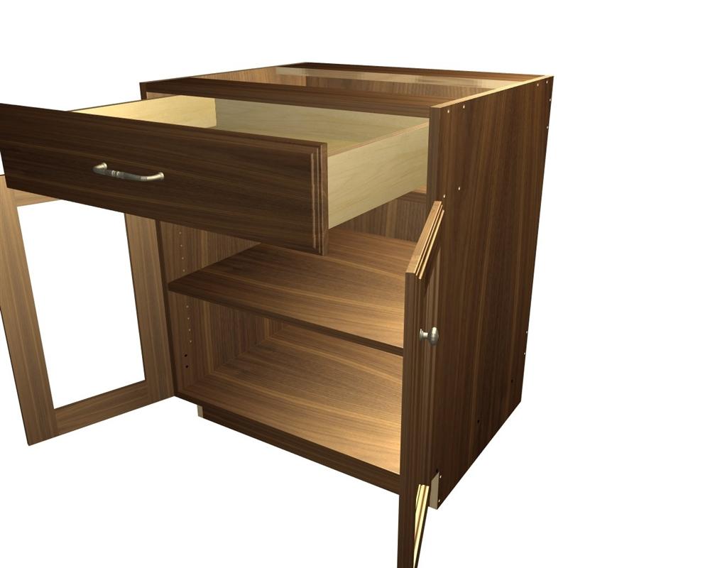 2 door 1 drawer base cabinet