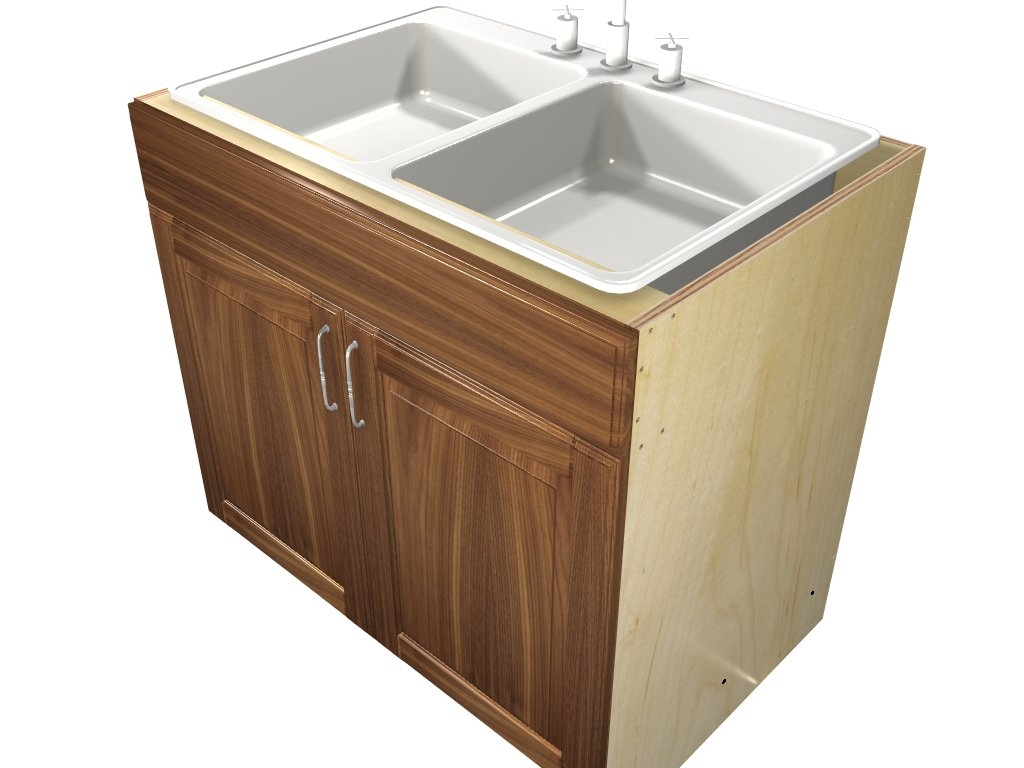 2 door 1 false front SINK ...  sc 1 st  Barker Cabinets & 2 door 1 false front SINK base cabinet