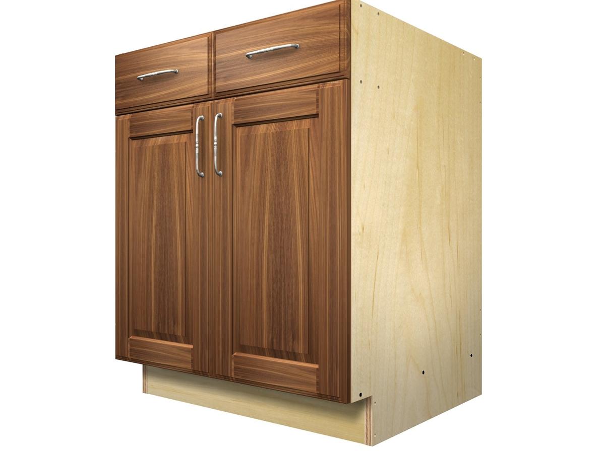 2 door 2 drawer base cabinet with split top